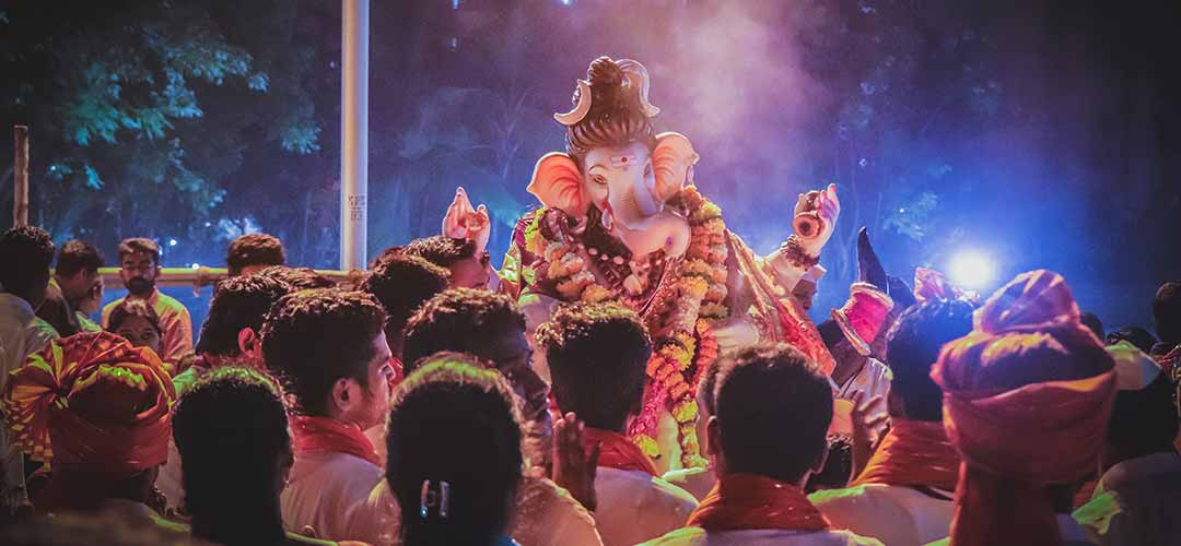 Ganpati Puja celebration in Maharashtra