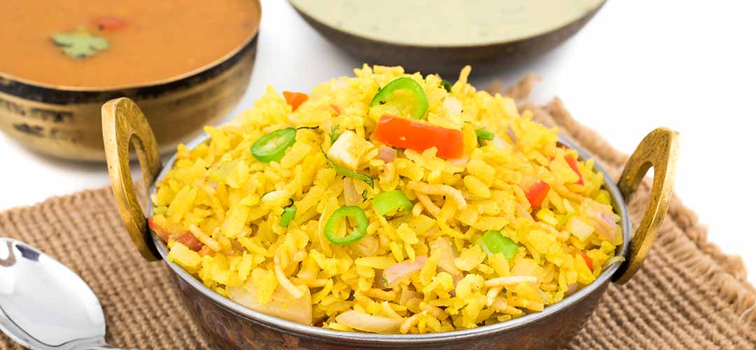 Indian dishes Poha